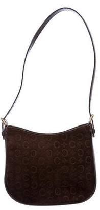 Celine Monogram Suede Shoulder Bag
