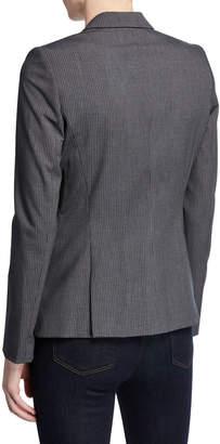 Tahari ASL Single-Button Pinstriped Jacket