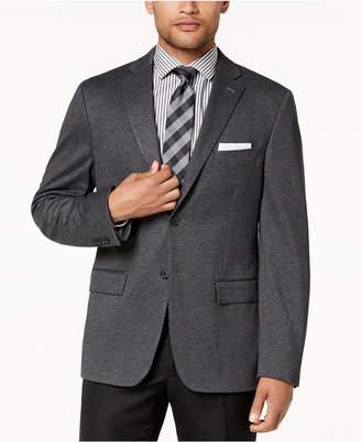 Ryan Seacrest Distinction Men's Modern-Fit Stretch Charcoal Knit Sport Coat