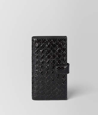 Bottega Veneta NERO AYERS/INTRECCIATO NAPPA HIGH-TECH CASE