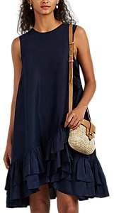 Azeeza Women's Ferron Ruffle-Trimmed Silk Dress - Navy