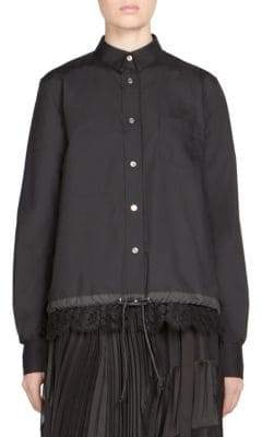 Sacai Lace Button-Front Shirt