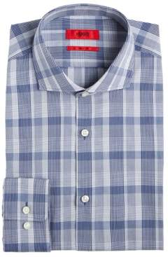 HUGO BOSS Hugo Men's Slim-Fit Navy Plaid Dress Shirt