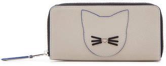 Karl Lagerfeld K/Karry Zipped Leather Wallet