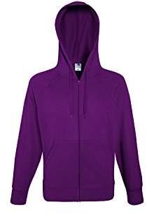 Fruit of the Loom Men's Lightweight Hooded Sweat Sports Jacket