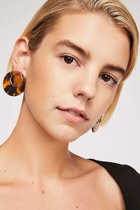 Behind Resin Stud Earring