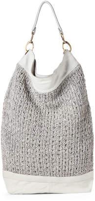 Giorgio Brato Ash Woven Leather Shoulder Sack Bag
