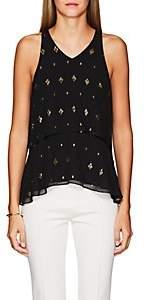 A.L.C. Women's Duran Silk Sleeveless Top - Black