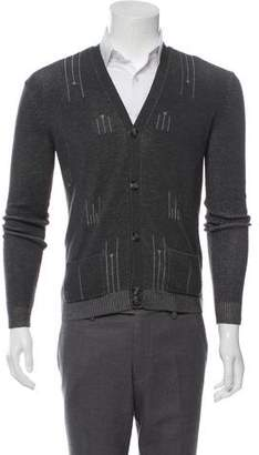 Marc by Marc Jacobs Printed Wool Blend Cardigan