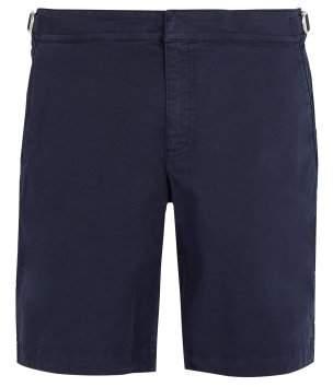 Orlebar Brown - Dane Ii Cotton Shorts - Mens - Navy