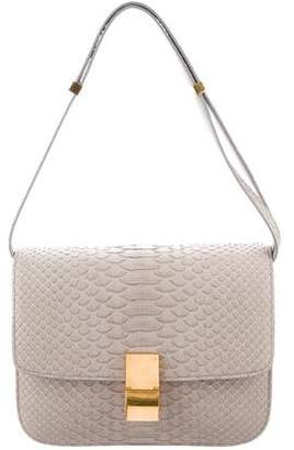 Celine Medium Python Classic Box Bag