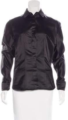 Antonio Berardi Silk Button-Up Top