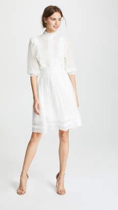 Costarellos Mock Neck Bishop Sleeve Dress