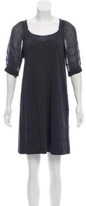 Sonia Rykiel Sonia by Silk-Accented Mini Dress