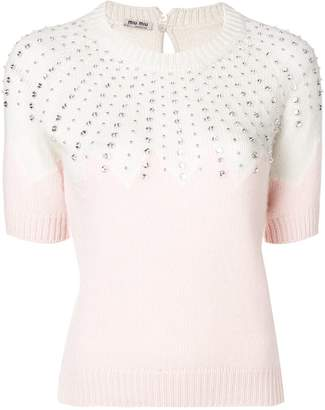 Miu Miu jewellery knit sweater
