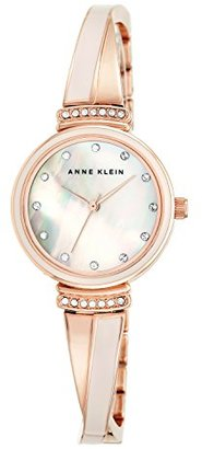 Anne Klein (アン クライン) - Anne Klein Women 's AK / 2216blrgスワロフスキーcrystal-accentedローズゴールド調and Blushピンクバングル腕時計