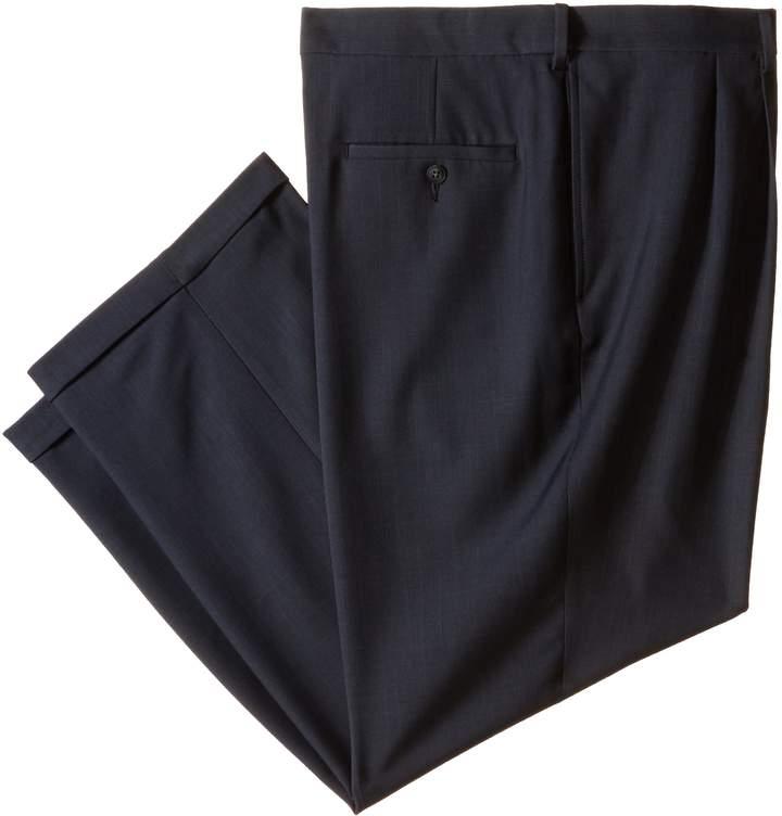 Haggar Men's Repreve Stria Gab Plain Front Dress Pant