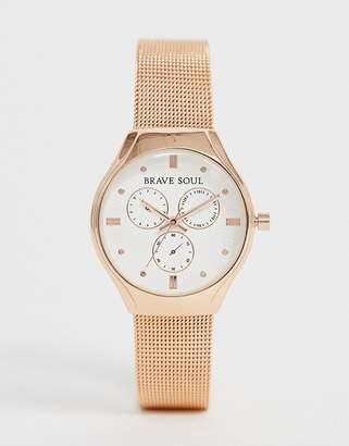 Brave Soul ladies chronograph mesh watch