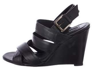 Modern Vintage Leather Wedge Sandals