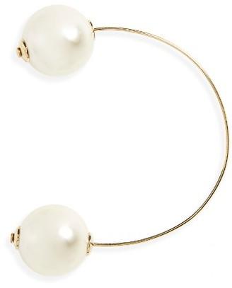 Women's Simone Rocha Double Imitation Pearl Earring $200 thestylecure.com