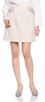 Lily Brown (リリー ブラウン) - [リリーブラウン] ビジュ―バックル台形スカート LWFS181816 PNK 日本 1-(日本サイズ9 号相当)
