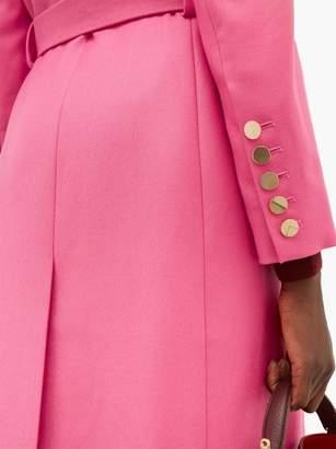 Erdem Edmund Single Breasted Wool Twill Coat - Womens - Pink