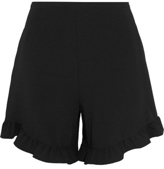 See by Chloé - Ruffle-trimmed Crepe Shorts - Black $290 thestylecure.com