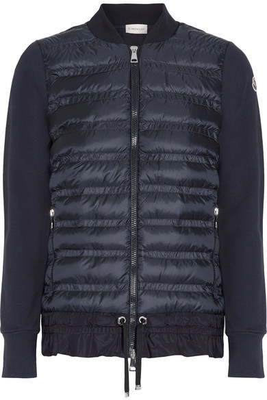MonclerMoncler - Quilted Shell And French Cotton-terry Down Jacket - Navy
