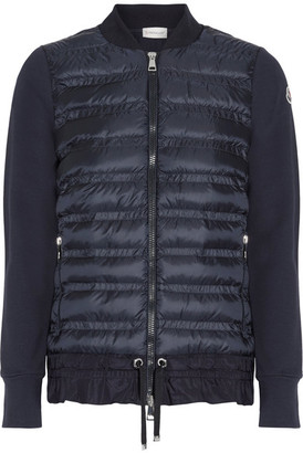 Moncler - Quilted Shell And French Cotton-terry Down Jacket - Navy $825 thestylecure.com