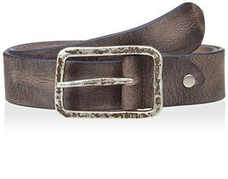 Bolliver Men's Distressed and Faded with Contrast Edge Belt