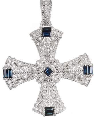 Judith Ripka Sterling Sapphire Cross Enhancer