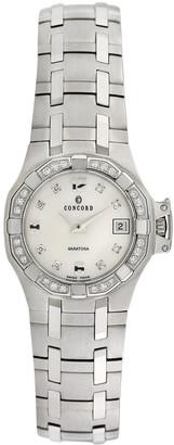 Concord Saratoga Stainless Steel & Diamond Watch, 25Mm