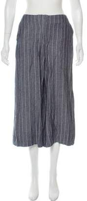 By Malene Birger High-Rise Striped Culottes