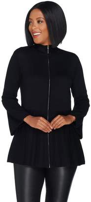 Halston H By H by Bell Sleeve Sweater Cardigan