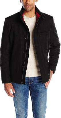 Izod Outerwear Men's Wool Jacket with Contrast Inner Collar