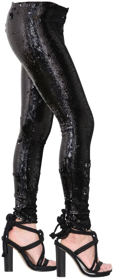 Isabel Marant Sequined Stretch Jersey Leggings
