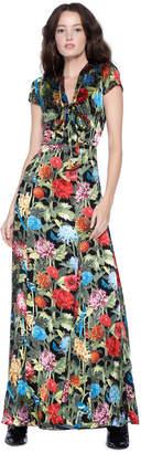 Alice + Olivia Roanne Keyhole Godet Maxi Dress