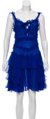 Fendi Ruffled Chiffon Dress