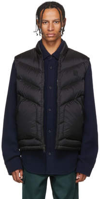 Woolrich John Rich and Bros Black Down Logo Vest