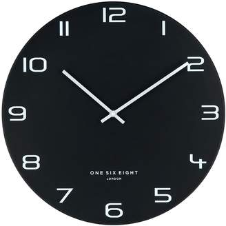 One Six Eight London Nero Silent Wall Clock, 40cm