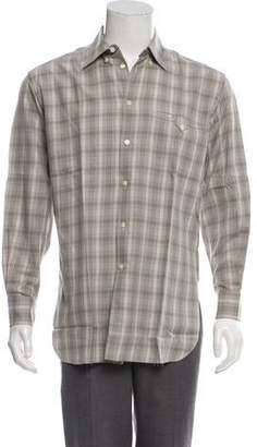 Valentino Plaid Button-Up Shirt