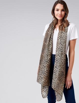 Forever New Mila Leopard Print Scarf - Natural Leopard - 00