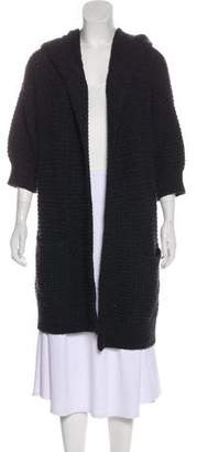 Vince Hooded Short Sleeve Cardigan