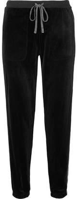 DKNY After Hours Stretch-velvet Track Pants - Black