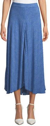 Velvet Titania Printed A-Line Midi Skirt