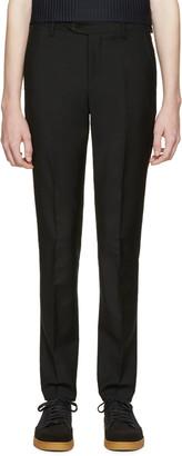 Acne Studios Black Drifter Trousers $330 thestylecure.com