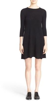 Women's Autumn Cashmere Exposed Seam Cashmere Swing Dress $341 thestylecure.com