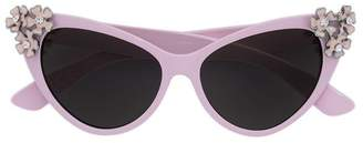 MonnaLisa floral cat eye sunglasses