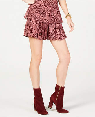 Michael Kors Swirl Wave Pleated Shorts, Created for Macy's, in Regular and Petite Sizes