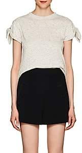 Derek Lam 10 Crosby Women's Striped Cotton Jersey T-Shirt - White